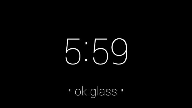 OK Glass menu screen